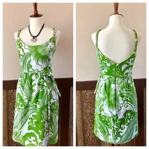 Milly of NY Jacquard Belted Summer Dress w/Pockets